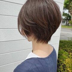 ナチュラル ショート スッキリ ショートヘア ヘアスタイルや髪型の写真・画像