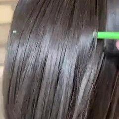 縮毛矯正 梅雨 ヘアドネーション ナチュラル ヘアスタイルや髪型の写真・画像