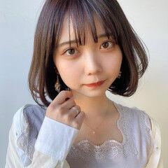韓国ヘア 縮毛矯正 タンバルモリ ナチュラル ヘアスタイルや髪型の写真・画像