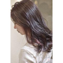 ガーリー ブリーチ無し ミディアム ノーブリーチ ヘアスタイルや髪型の写真・画像