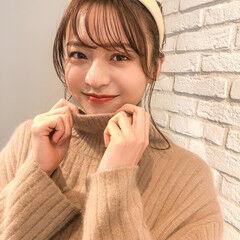 韓国ヘア シニヨン セミロング フェミニン ヘアスタイルや髪型の写真・画像