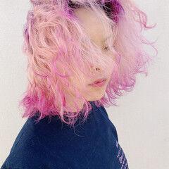 ハイトーン モード ブリーチ ハイトーンカラー ヘアスタイルや髪型の写真・画像
