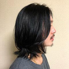 ロング ナチュラル メンズヘア メンズ ヘアスタイルや髪型の写真・画像