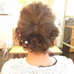 編み込み ヘアアレンジ ストリート ギブソンタック ヘアスタイルや髪型の写真・画像