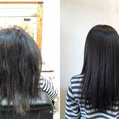 美髪 セミロング しっとり サラサラ ヘアスタイルや髪型の写真・画像