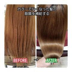トリートメント 名古屋市守山区 ロング ナチュラル ヘアスタイルや髪型の写真・画像