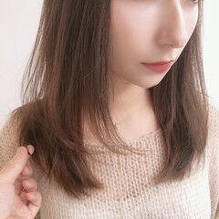 ミディアム ガーリー 小顔ヘア 大人女子 ヘアスタイルや髪型の写真・画像