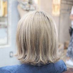 金髪 ミディアム 外国人風カラー ストリート ヘアスタイルや髪型の写真・画像