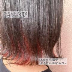 インナーカラー イルミナカラー ナチュラル ミニボブ ヘアスタイルや髪型の写真・画像