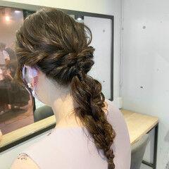 ヘアアレンジ ナチュラル ミルクティーベージュ 簡単ヘアアレンジ ヘアスタイルや髪型の写真・画像