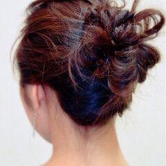 編み込み エレガント 三つ編み 上品 ヘアスタイルや髪型の写真・画像