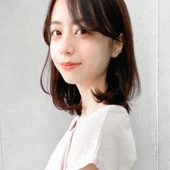 ミディアム 大人可愛い モテ髪 横顔美人 ヘアスタイルや髪型の写真・画像