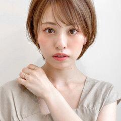ひし形 丸みショート ショート 大人女子 ヘアスタイルや髪型の写真・画像