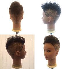 刈り上げ ボーイッシュ ショート ストリート ヘアスタイルや髪型の写真・画像
