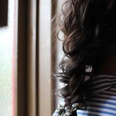 セミロング ふわふわ ナチュラル ヘアアレンジ ヘアスタイルや髪型の写真・画像