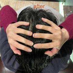 ロング ツヤ髪 ヘッドスパ 頭皮ケア ヘアスタイルや髪型の写真・画像