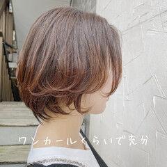 マッシュショート ショートヘア ショート ナチュラル ヘアスタイルや髪型の写真・画像