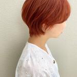 ショートヘア ショート オレンジカラー ダブルカラー