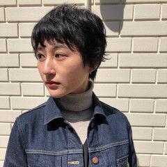 ショートボブ 外国人風パーマ ナチュラル ウルフカット ヘアスタイルや髪型の写真・画像