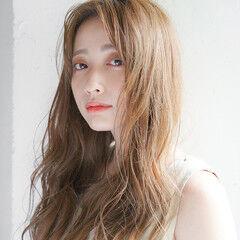 透明感カラー ロング 外国人風カラー デジタルパーマ ヘアスタイルや髪型の写真・画像