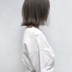 ショートヘア ナチュラル ボブ 切りっぱなしボブ ヘアスタイルや髪型の写真・画像