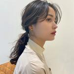 セルフヘアアレンジ ナチュラル ロング モテ髪
