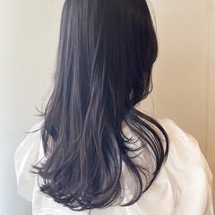 韓国ヘア ダークトーン ラベンダー モード ヘアスタイルや髪型の写真・画像