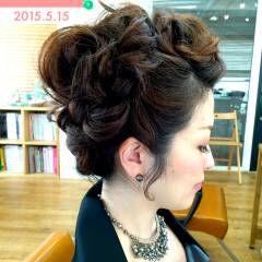 アップスタイル コンサバ リーゼント風 ヘアアレンジ ヘアスタイルや髪型の写真・画像