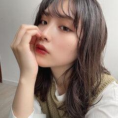 韓国ヘア 韓国 ミディアム 韓国風ヘアー ヘアスタイルや髪型の写真・画像