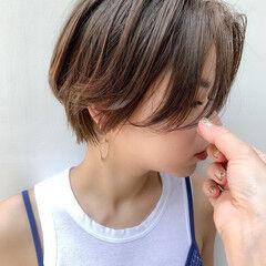 ショートヘア ナチュラル ショート 外国人風カラー ヘアスタイルや髪型の写真・画像