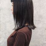 ナチュラル 髪質改善 外国人風 ロブ