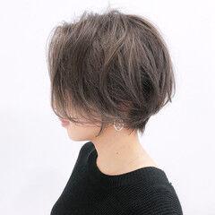 丸みショート ショート 大人ショート ショートボブ ヘアスタイルや髪型の写真・画像