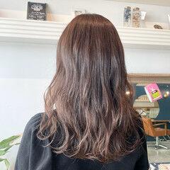 ブラウン マロン ブラウンベージュ 透け感ヘア ヘアスタイルや髪型の写真・画像