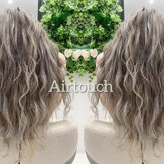 外国人風カラー バレイヤージュ バックコーミング ストリート ヘアスタイルや髪型の写真・画像