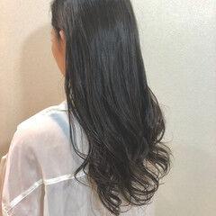 グレージュ 外国人風 ブルージュ ロング ヘアスタイルや髪型の写真・画像