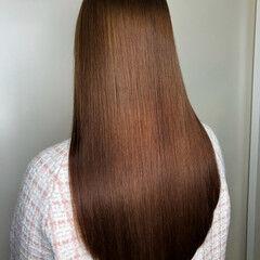 艶髪 ナチュラル 艶カラー ロング ヘアスタイルや髪型の写真・画像