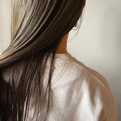 くすみベージュ くすみカラー お洒落 透明感 ヘアスタイルや髪型の写真・画像