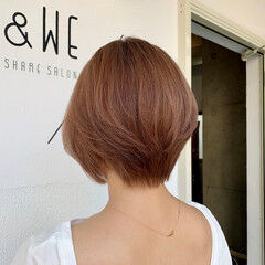 ショートヘア ベージュ 小顔ショート ショート ヘアスタイルや髪型の写真・画像