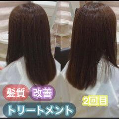髪質改善トリートメント ナチュラル 髪質改善 大人ロング ヘアスタイルや髪型の写真・画像