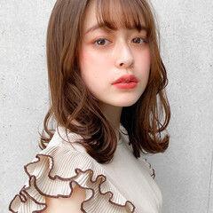 愛され ナチュラル モテ髪 セミロング ヘアスタイルや髪型の写真・画像