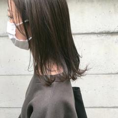ミディアム ベージュ ナチュラルベージュ シナモンベージュ ヘアスタイルや髪型の写真・画像