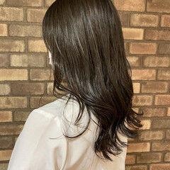 大人ミディアム 透明感 グレージュ ミディアム ヘアスタイルや髪型の写真・画像