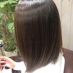 髪質改善 縮毛矯正 美髪 ナチュラル ヘアスタイルや髪型の写真・画像