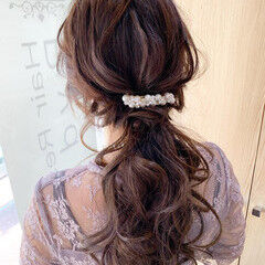 ヘアアレンジ ロング ゆるふわセット ナチュラル ヘアスタイルや髪型の写真・画像