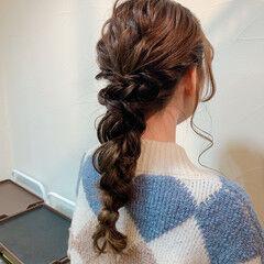 ナチュラル ヘアセット ロング お呼ばれ ヘアスタイルや髪型の写真・画像