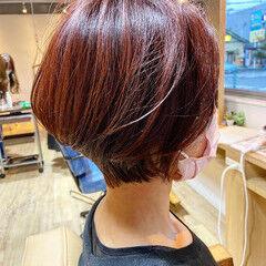 ショートヘア ショート ピンクカラー ベリーショート ヘアスタイルや髪型の写真・画像