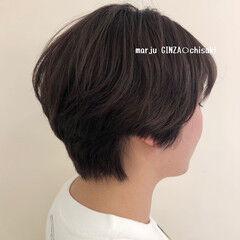 おしゃれさんと繋がりたい ナチュラル ショートヘア ブラウンベージュ ヘアスタイルや髪型の写真・画像