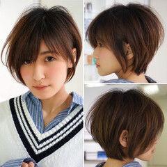 ナチュラル 縮毛矯正 面長 小顔 ヘアスタイルや髪型の写真・画像