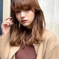 ガーリー ミディアム モテ髪 デート ヘアスタイルや髪型の写真・画像