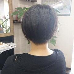 ナチュラル ショートヘア ショート かりあげ ヘアスタイルや髪型の写真・画像